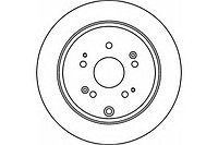 Тормозные диски Honda CR-V (RD,RE) (задние, 05 - …, Optimal)