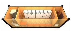 Блок-контейнер раздевалка