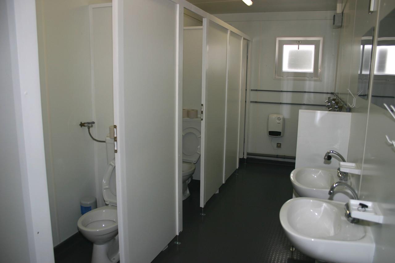 Туалет из блок контейнера 40 ф.
