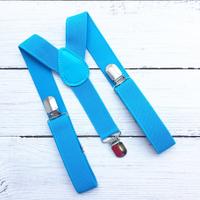 Подтяжки для брюк на вечеринку (голубые)