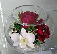 Цветы в стеклянной колбе BSM2