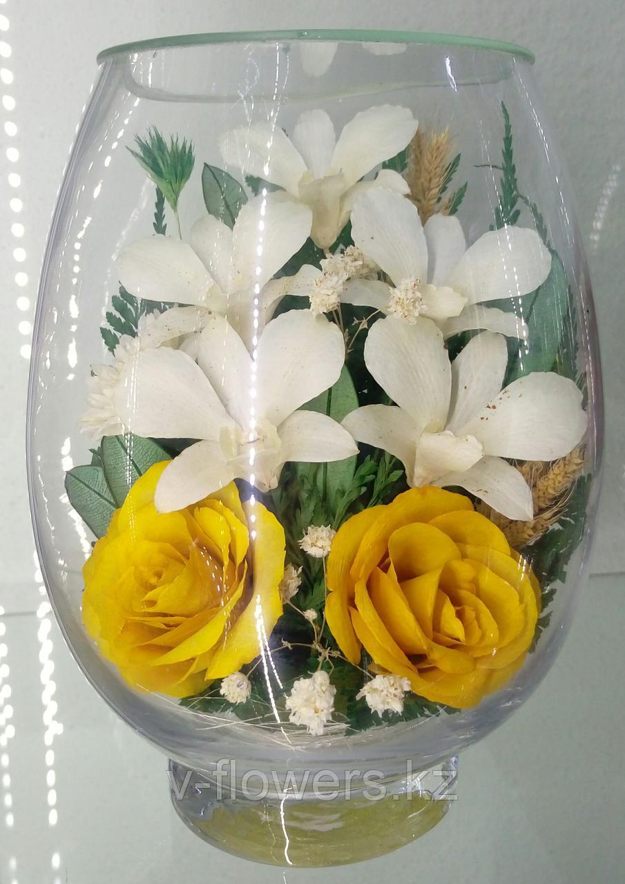 Живые цветы в стекле VSM1