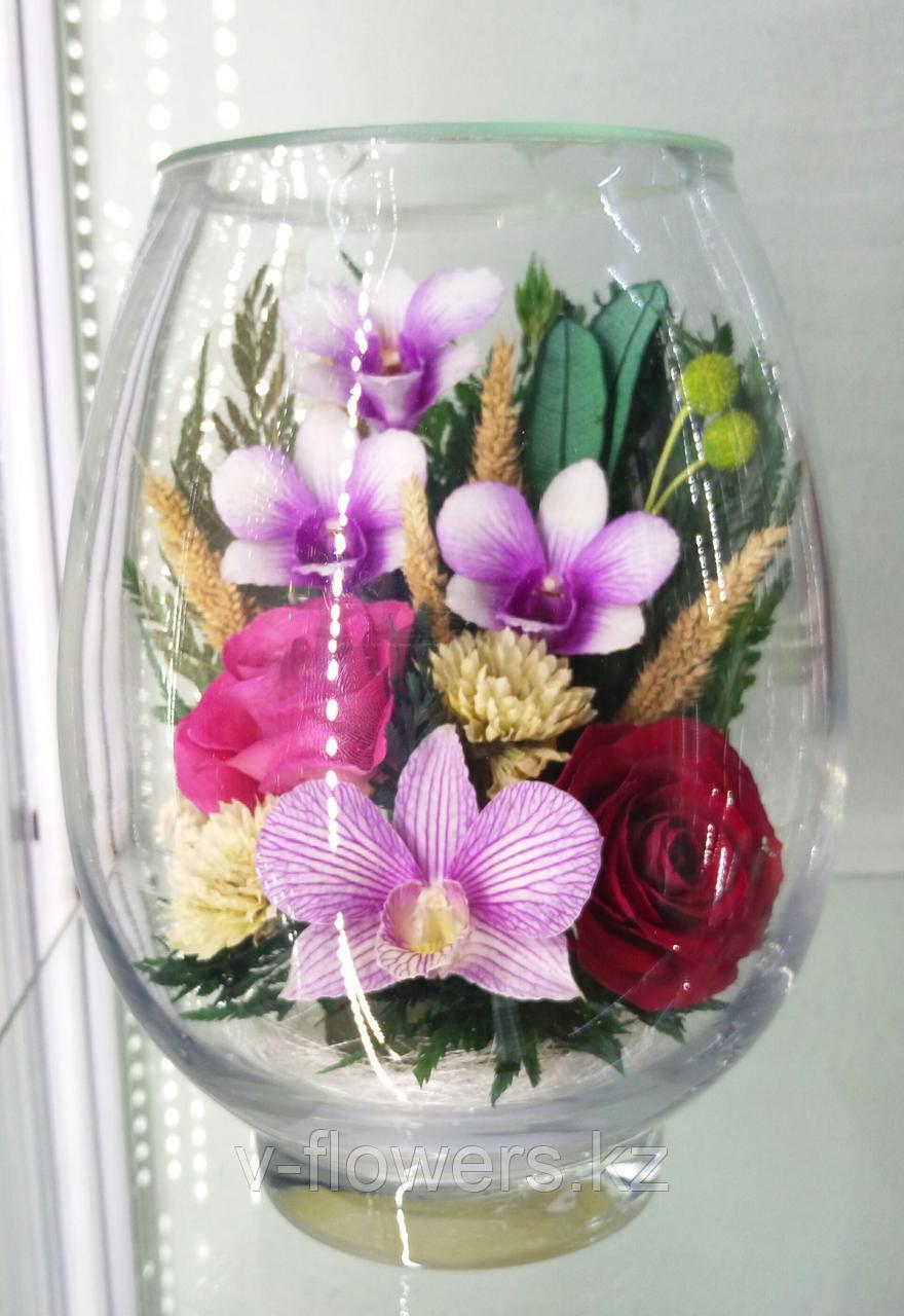 Живые цветы в стекле VSM2
