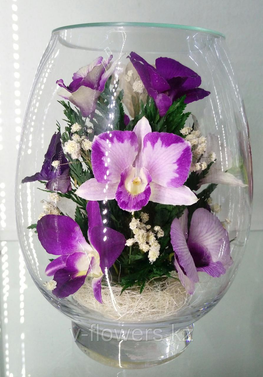 Живые цветы в стекле VSO