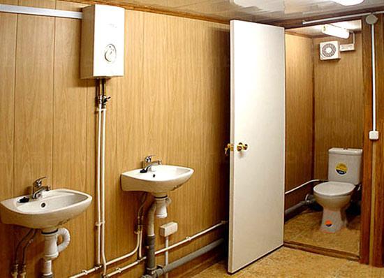 Туалет из блок контейнера 20 ф.