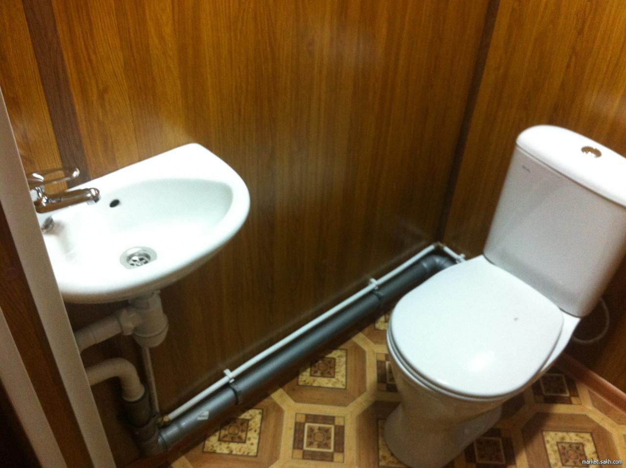 Туалет из блок контейнера 10 ф.