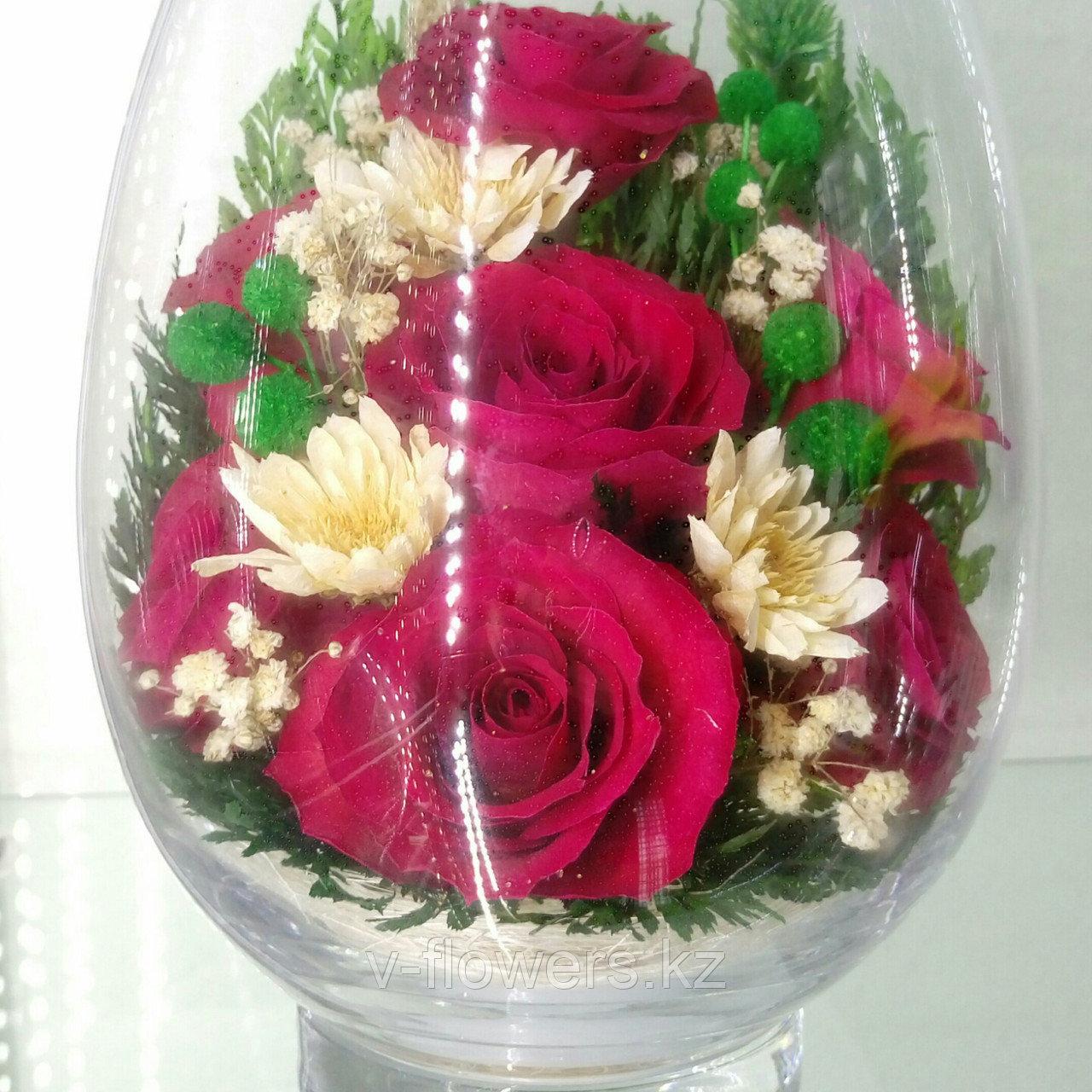 Живые цветы в стекле VSR2