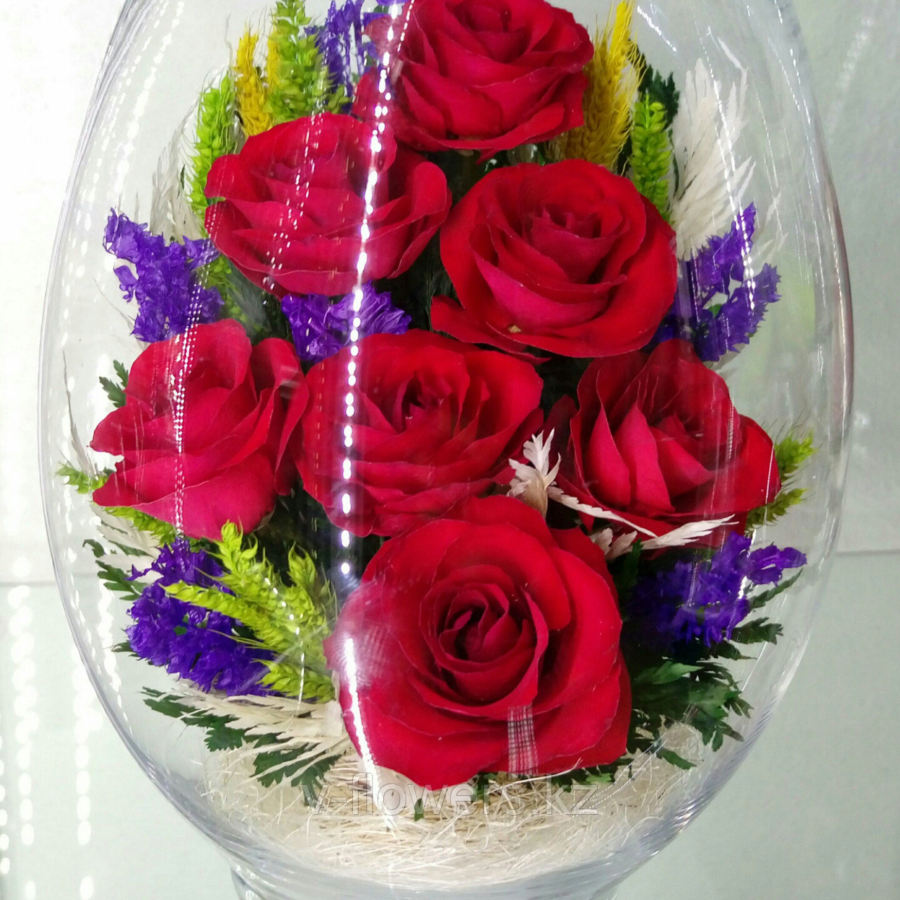 Живые цветы в стекле VSR3