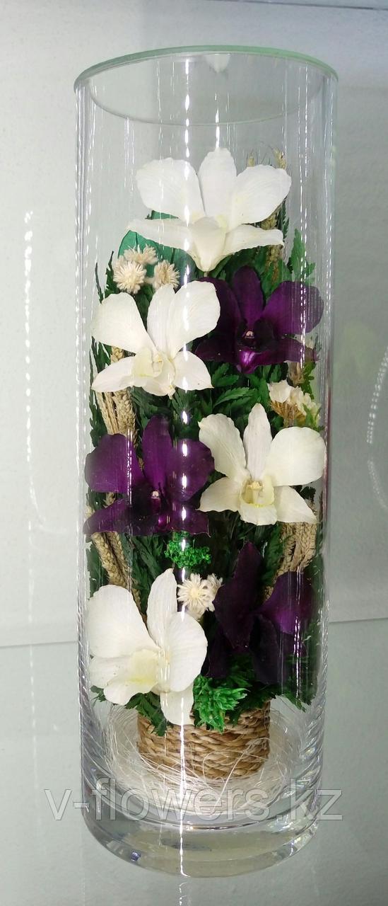 Живые цветы в стекле CLO