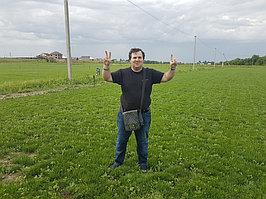 В гостях у нашего клиента.Производителя рулонного газона в Алматы