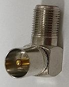 ТВ(PAL) штекер - F гнездо, угловой (цинк-никель) APP-316_ZK