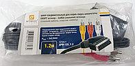Шнур соединительный  СКАРТ - 3RCA 1.2 МЕТР
