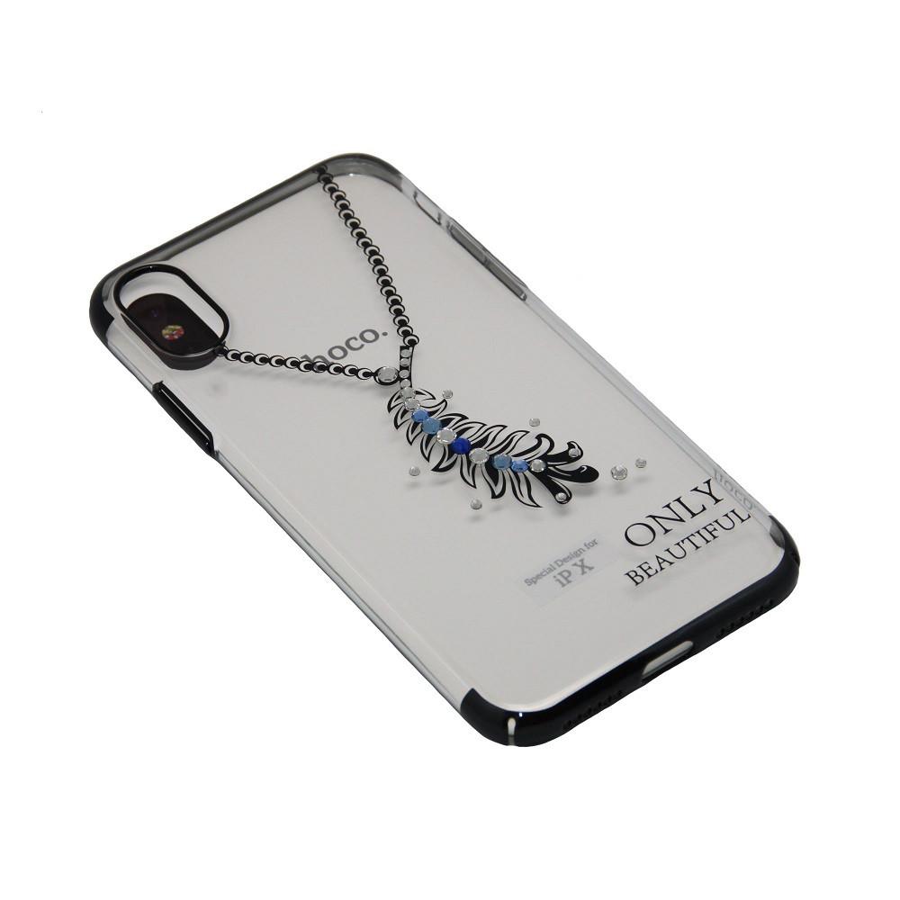 Чехол Hoco Стразы Feather iPhone X, 10