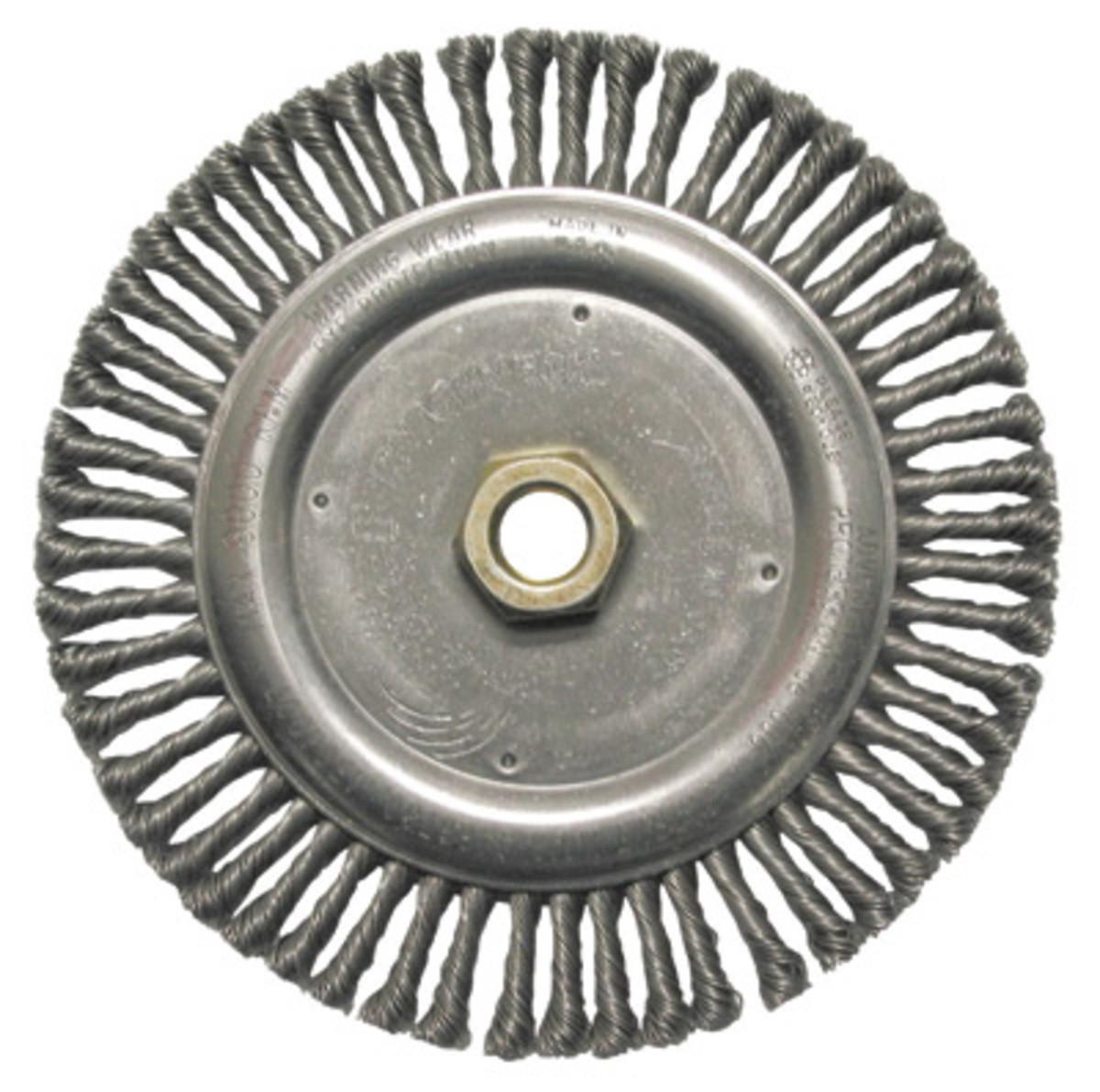 Щётка дисковая D 178 x 6 x 22,2 mm. Weiler Жгутовая стальная проволока 0,5mm