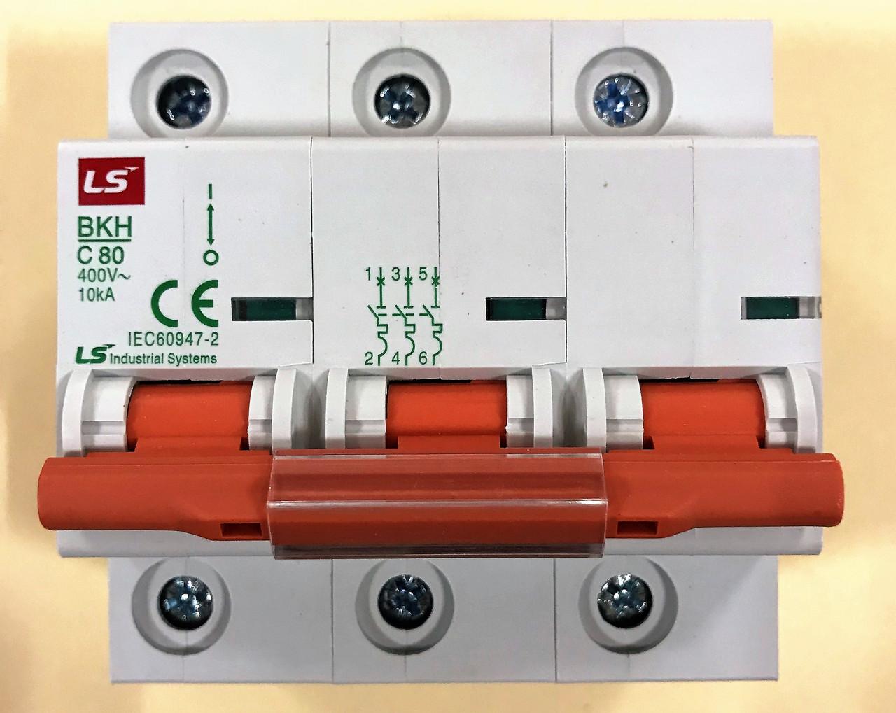 Автоматический выключатель BKH 3P C80 (10кА)