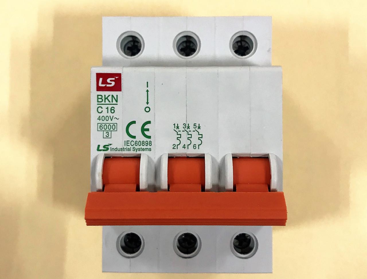 Автоматический выключатель BKN 3P C16 (6кА)