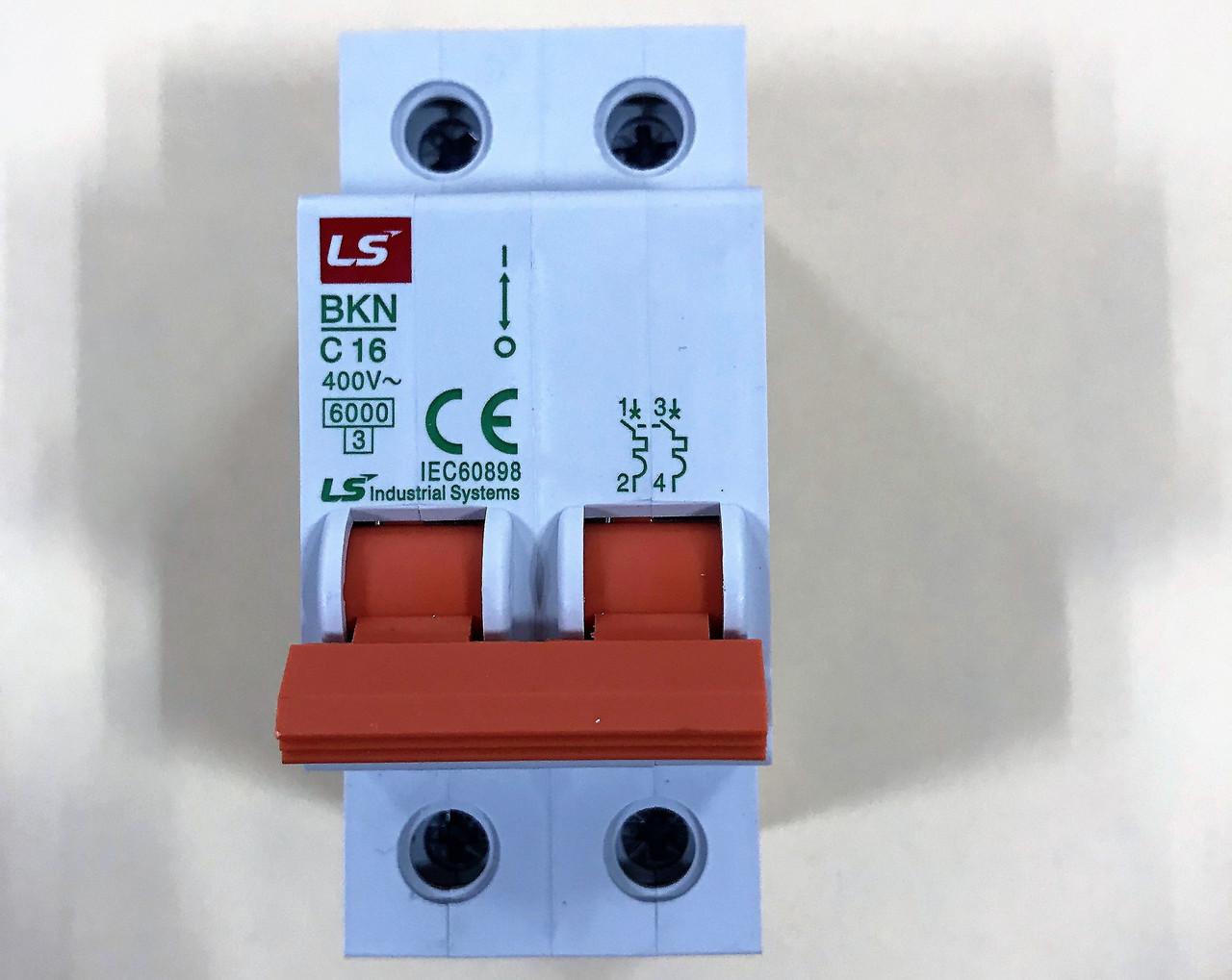 Автоматический выключатель BKN 2P C16 (6кА)