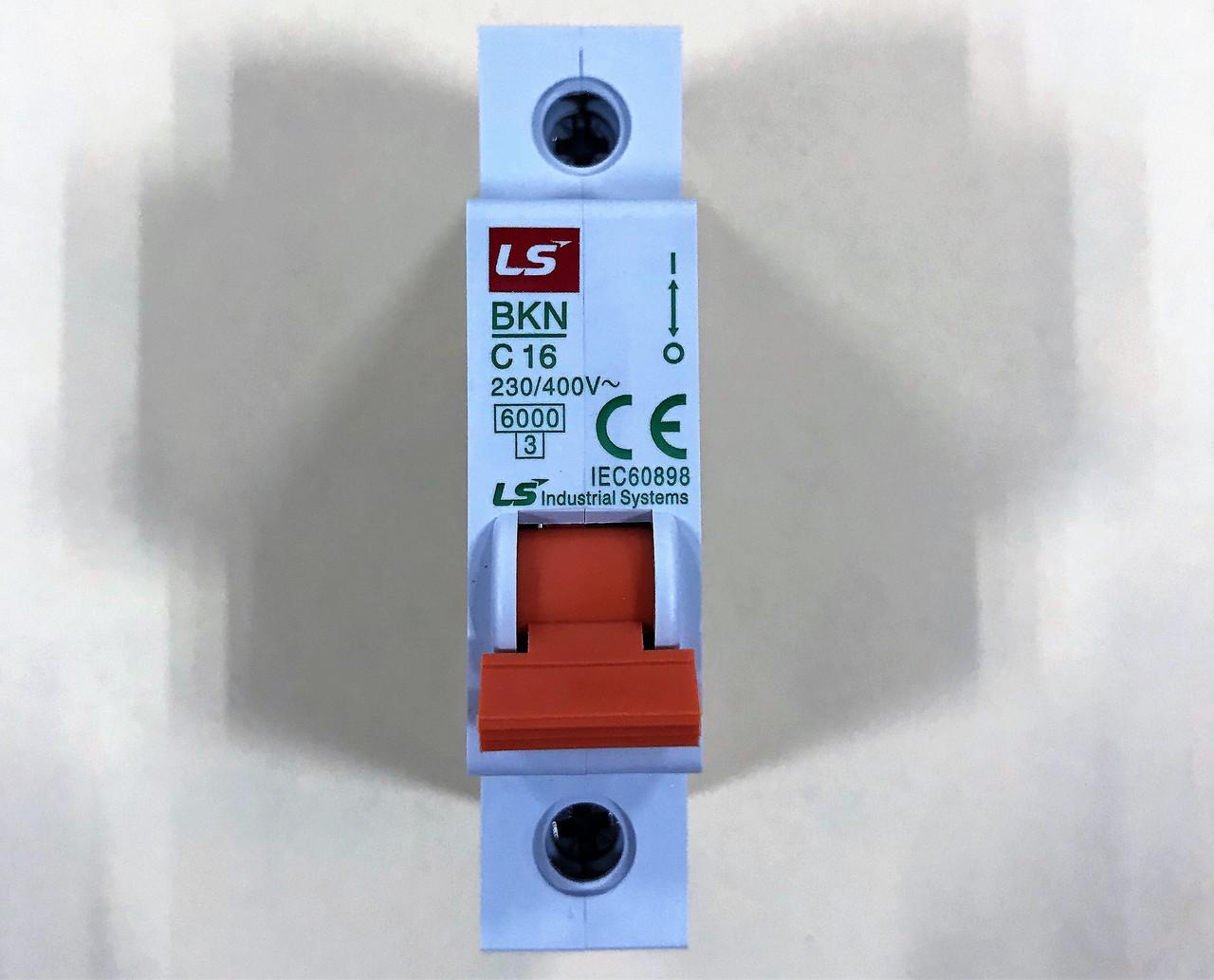 Автоматический выключатель BKN 1P C16 (6кА)