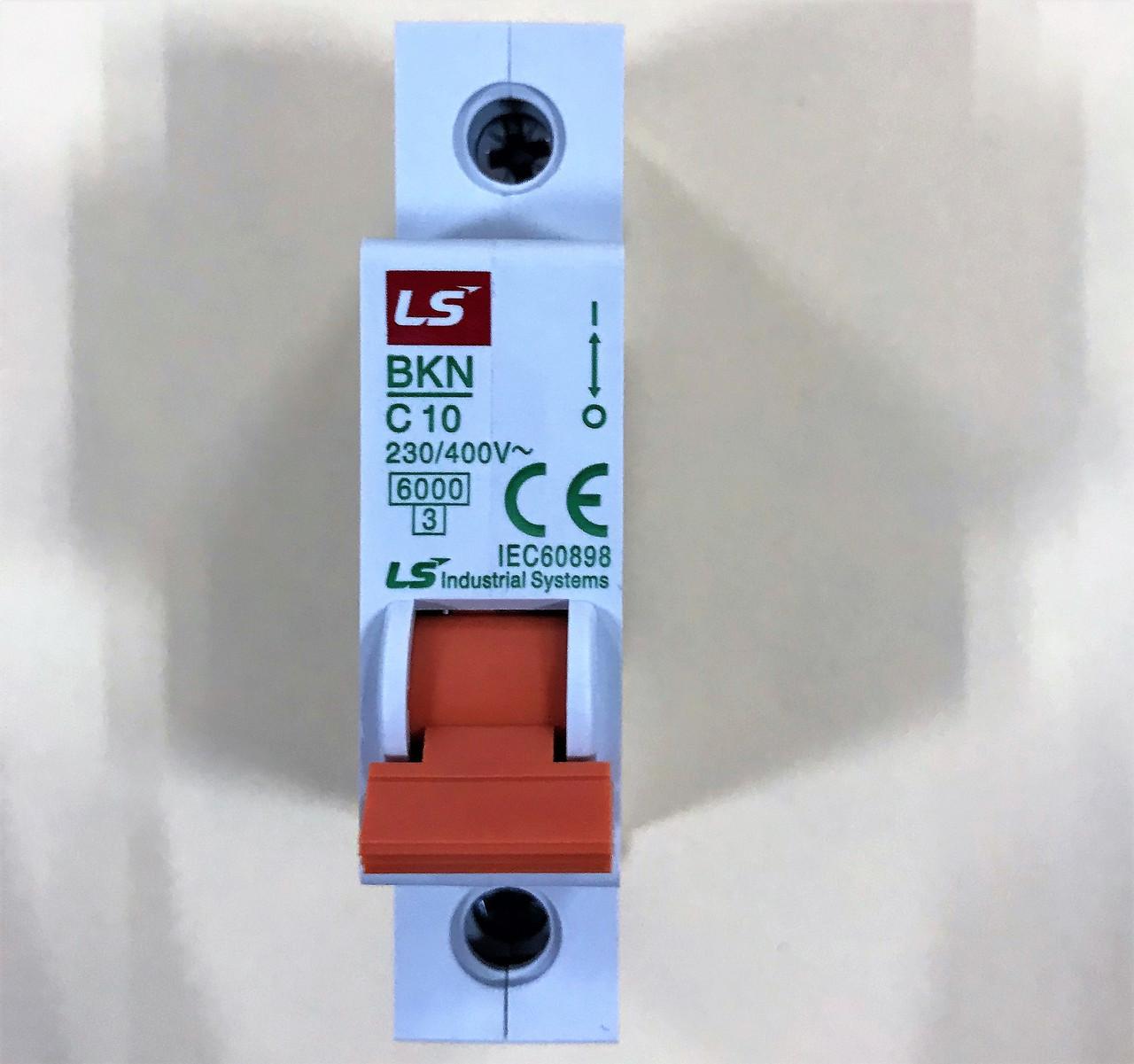 Автоматический выключатель BKN 1P C10 (6кА)