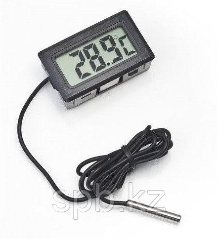 Компактный цифровой ЖК-термометр с выносным датчиком