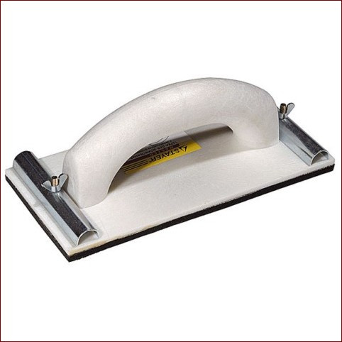 Терка штукатурная для шлифования с металлическим фиксатором 80x230мм