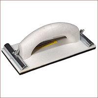 Терка штукатурная для шлифования с металлическим фиксатором 105x230мм