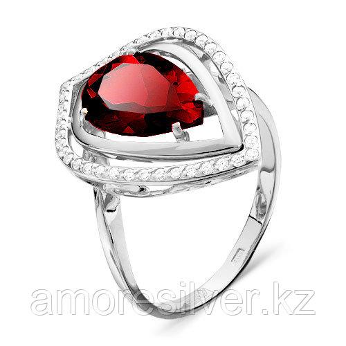 Серебряное кольцо с фианитом и фианитом цветным   Teosa 100-1028-RB
