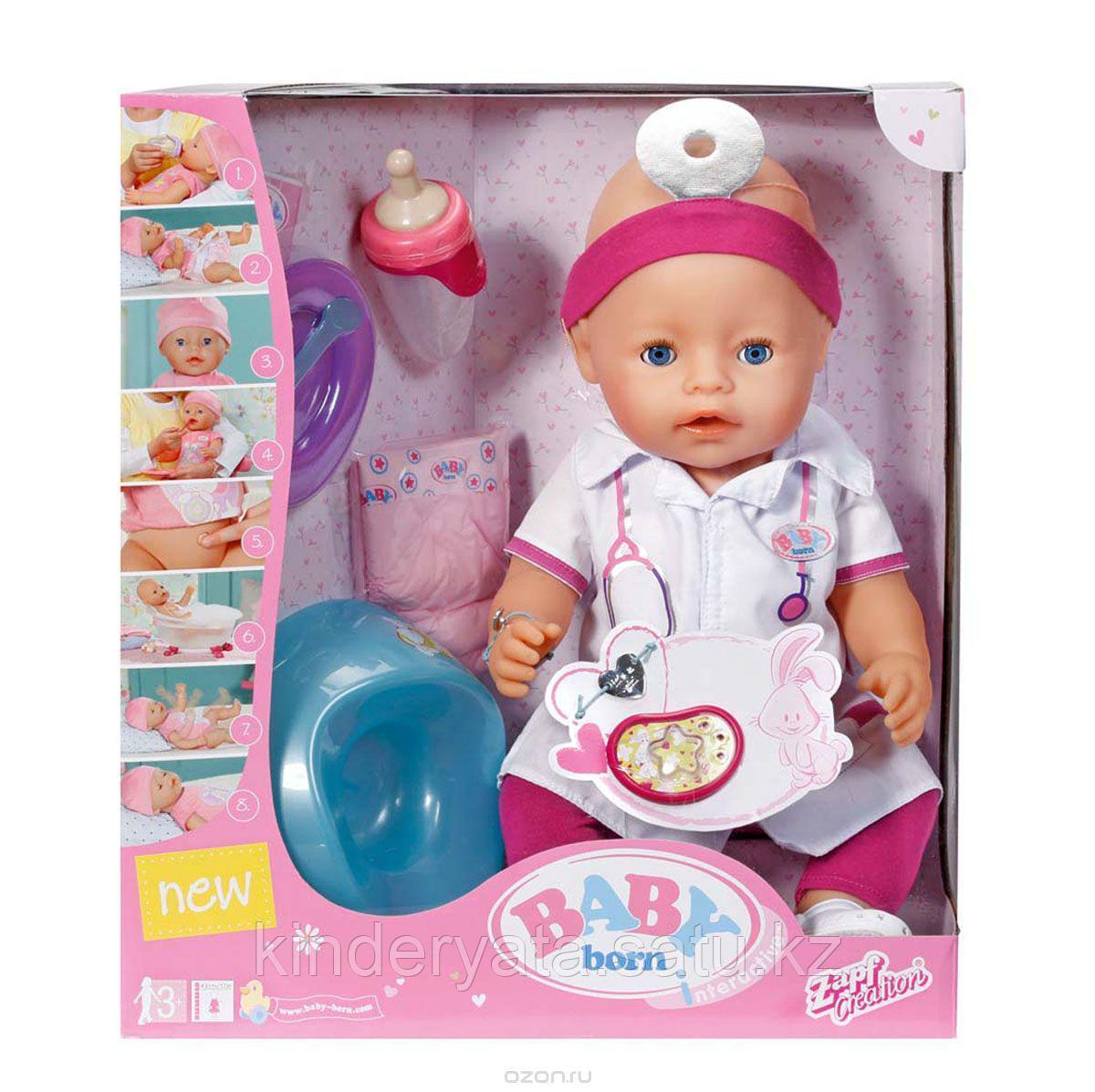 Baby Born Интерактивная кукла Доктор,43 см.