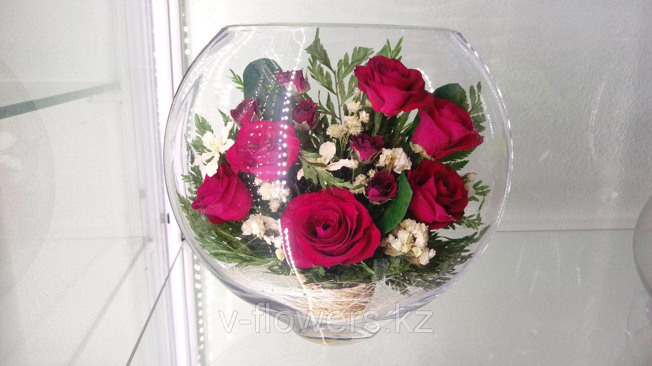 Живые цветы в стекле ESR-02
