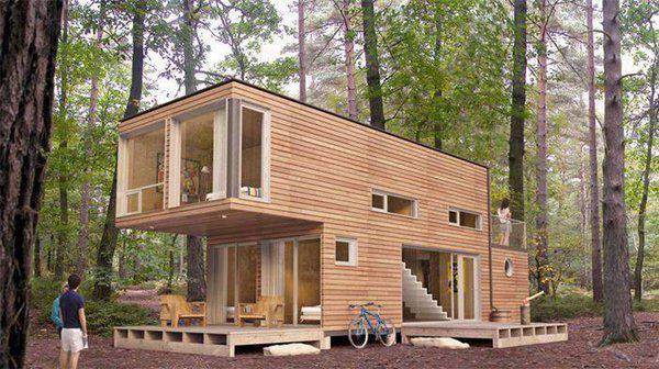 2- ух этажный дачный домик