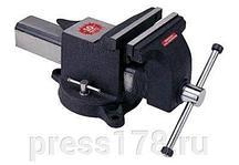 Тиски стальные поворотные с наковальней 8*-200мм
