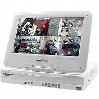 4-х канальный AHD видеорегистратор 960P 1аудио HDMI VGA с монитором