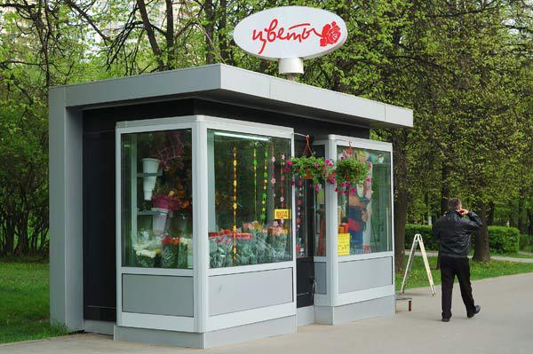 Цветочный киоск в Алматы