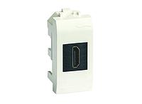 DKC HDMI розетка, Brava, белая, 1 мод., фото 1