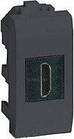 DKC HDMI розетка, Brava, черная, 1 мод., фото 1