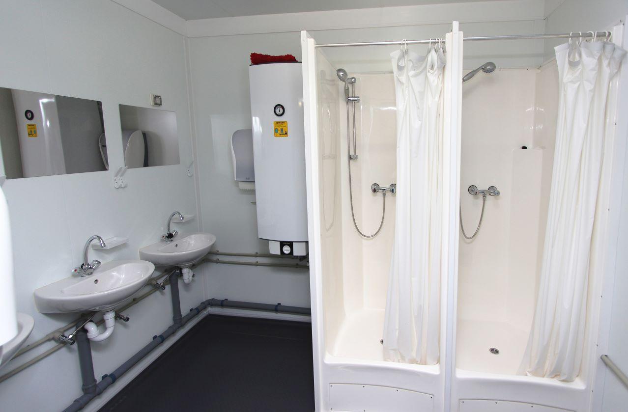 Модульная раздевалка с душем