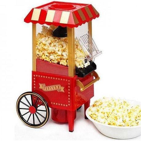Уценка (товар с небольшим дефектом) Аппарат для попкорна на колесах Ретро (Nostalgia), фото 2