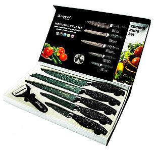 Набор ножей с мраморным покрытием, фото 2