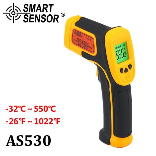 Инфракрасный термометр. Пирометр AS530 от-32 до +550 градусов