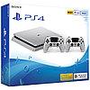 PlayStation 4 SLIM 500GB Серебро 2 Джойстика
