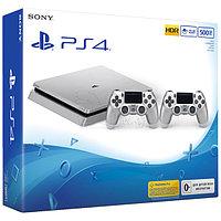 PlayStation 4 SLIM 500GB Серебро 2 Джойстика , фото 1