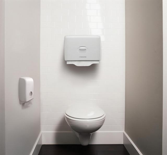 настенный диспенсер для листовой туалетной бумаги