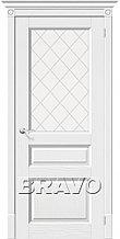 Межкомнатная шпонированная дверь Вилла белая ДО