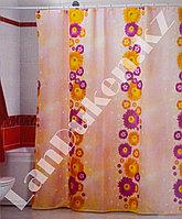 Водонепроницаемая тканевая шторка для ванной Miranda Flower Path Цветы 180*200