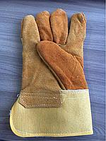 Перчатки спилковые комбинированные спилковые