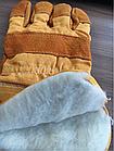 Перчатки спилковые комбинированные спилковые, фото 3
