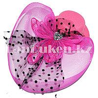 Женская мини шляпа (розовая)
