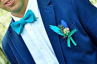 Галстук бабочка на вечеринку (голубая)