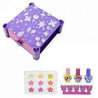 Игровой набор детской декоративной косметики для губ и ногтей, фото 1