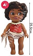 Музыкальная говорящая кукла малышка Моана высота 25.5 см